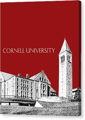 Cornell University - Dark Red Canvas Print by DB Artist