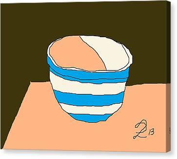 Cornish Bowl Canvas Print by Anita Dale Livaditis