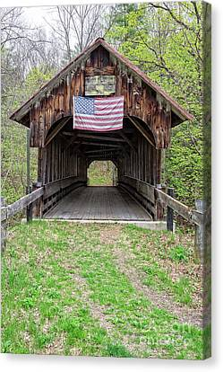 Cornish Covered Bridge Canvas Print by Edward Fielding