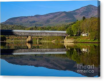 Cornish Windsor Covered Bridge Canvas Print by Edward Fielding