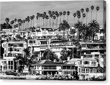 Corona Del Mar California Black And White Picture Canvas Print by Paul Velgos