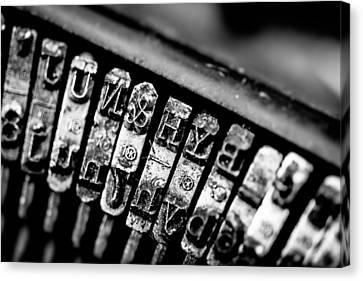 Corona Four Typewriter Detail Canvas Print by Jon Woodhams