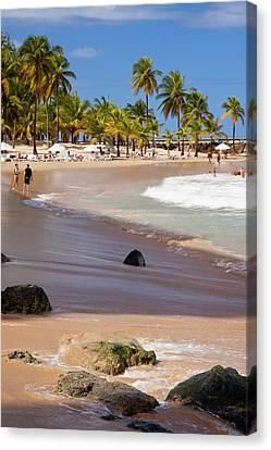 Coronado Beach In San Juan, Puerto Rico Canvas Print by Brian Jannsen