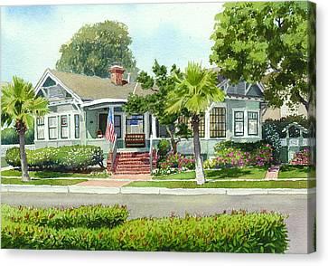 Coronado Craftsman House Canvas Print by Mary Helmreich