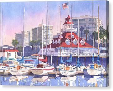 Coronado Shores Canvas Print by Mary Helmreich