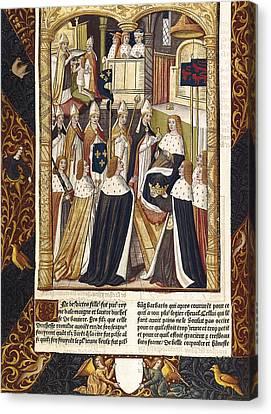 Coronation Of Ramhilde, Duchess Canvas Print by Everett