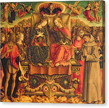Coronation Of The Virgin Canvas Print by Carlo Crivelli