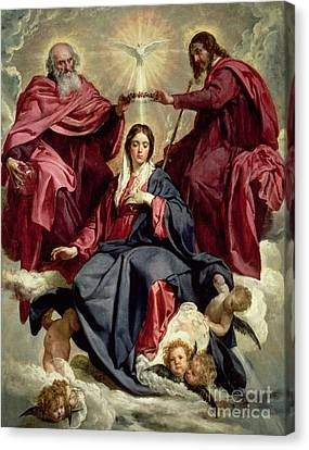 Coronation Of The Virgin Canvas Print by Diego Velazquez