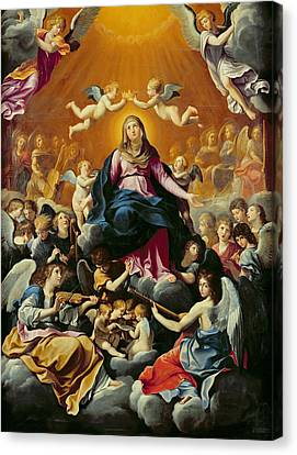 Coronation Of The Virgin Oil On Canvas Canvas Print by Guido Reni
