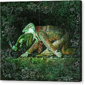 Corporate Predator Canvas Print by Leon Zernitsky