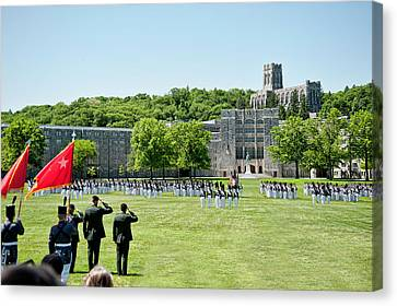 Corps Of Cadets Present Arms Canvas Print by Dan McManus