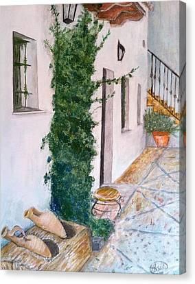 Cortijo Las Duchas Canvas Print by Asuncion Purnell