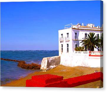 Cortijo On The Beach Canvas Print by Bruce Nutting