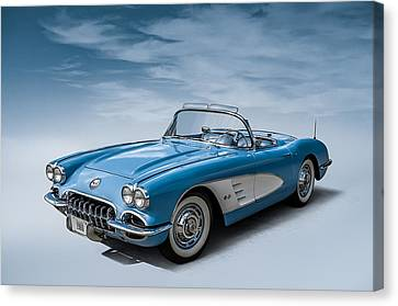 Corvette Blues Canvas Print by Douglas Pittman