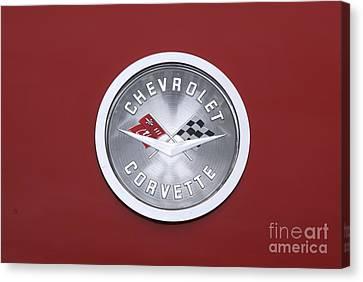 Corvette Emblem Canvas Print by Neil Zimmerman