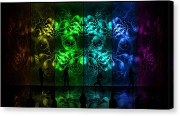 Cosmic Alien Vixens Pride Canvas Print by Shawn Dall