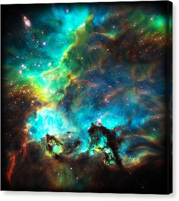 Cosmic Cradle 1 Star Cluster Ngc 2074 Canvas Print by The  Vault - Jennifer Rondinelli Reilly