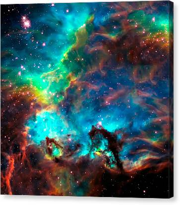 Cosmic Cradle 2 Star Cluster Ngc 2074 Canvas Print by The  Vault - Jennifer Rondinelli Reilly