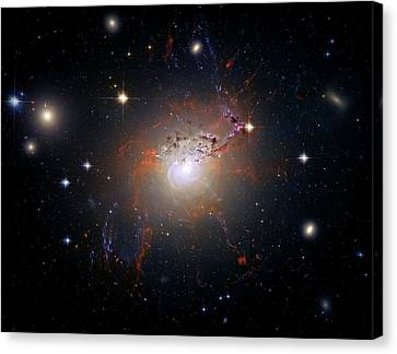 Cosmic Fireworks Canvas Print by The  Vault - Jennifer Rondinelli Reilly