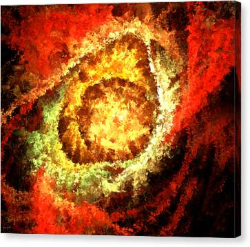 Cosmic Flares Canvas Print by Lourry Legarde