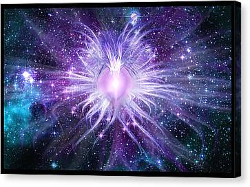 Cosmic Heart Of The Universe Canvas Print by Shawn Dall