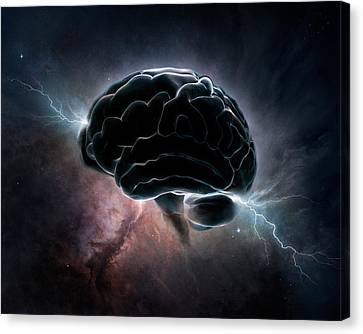 Cosmic Intelligence Canvas Print by Johan Swanepoel