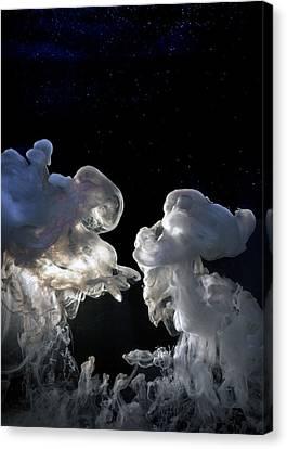 Cosmic Love Canvas Print by Petros Yiannakas
