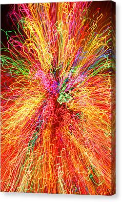 Cosmic Phenomenon Or Christmas Lights Canvas Print by Barbara West
