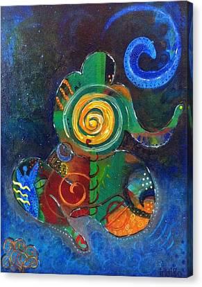 Cosmic Presence Canvas Print by Indigo Carlton