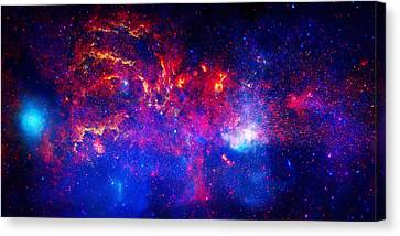 Cosmic Storm In The Milky Way Canvas Print by Celestial Images