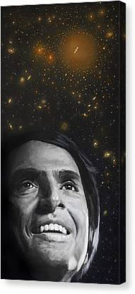 Cosmos- Carl Sagan Canvas Print by Simon Kregar