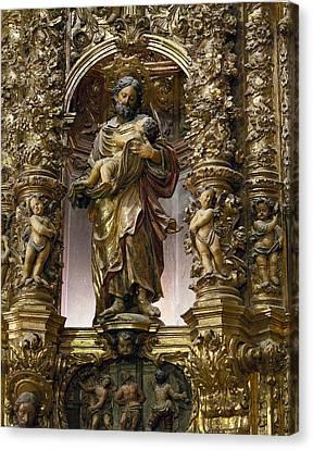Costa, Pablo 1672-1728. Main Altarpiece Canvas Print by Everett
