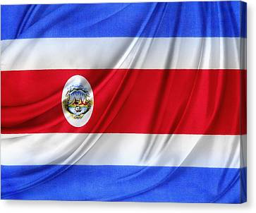 Costa Rican Flag Canvas Print by Les Cunliffe