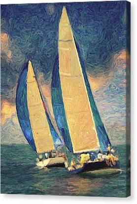 Costa Smeralda Canvas Print by Taylan Apukovska