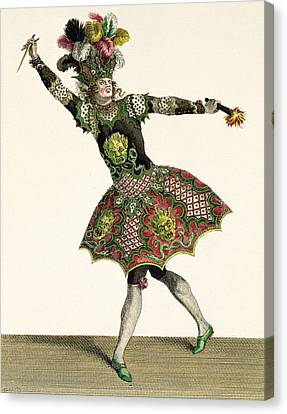 Costume For A Demon In Armide, Psyche Canvas Print by Jean Baptiste Martin