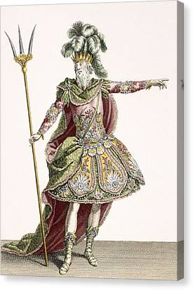 Costume For Neptune In Several Operas Canvas Print by Jean Baptiste Martin