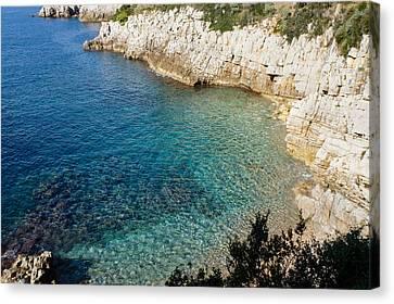 Cote D'azur - The Azure Coast - At Saint-jean-cap-ferrat France French Riviera Canvas Print by Georgia Mizuleva