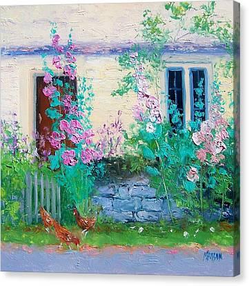 Cottage Garden By Jan Matson Canvas Print by Jan Matson