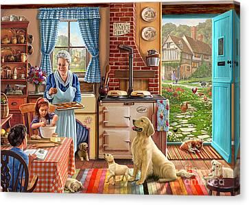 Cottage Interior Canvas Print by Steve Crisp