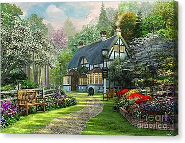 Cottage Pub Canvas Print by Dominic Davison