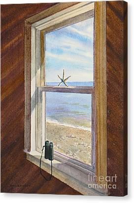 Cottage Window Canvas Print by Karol Wyckoff
