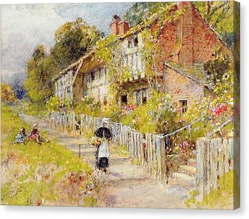 Cottages - A Row Of Cottages Canvas Print by William Stephen Coleman