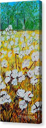 Cotton Long And Tall Canvas Print by Eloise Schneider
