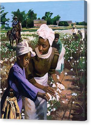 Cotton Pickers Canvas Print by Colin Bootman