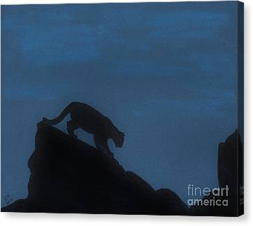 Cougar - Down - The - Mountain Canvas Print by D Hackett