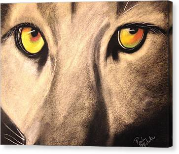 Cougar Eyes Canvas Print by Renee Michelle Wenker