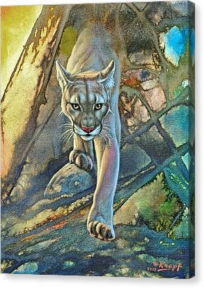 'cougar In Abstract' Canvas Print by Paul Krapf