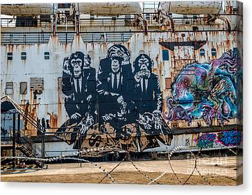 Council Of Monkeys 2 Canvas Print by Adrian Evans