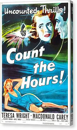 Count The Hours, Us Poster, Top Right Canvas Print by Everett