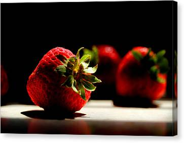 Countertop Strawberries Canvas Print by Michael Eingle